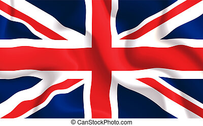 UK waving flag - Satin UK waving flag, eps10 vector...