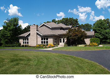 Single Family Brick Contemporary Ho - Single family brick...
