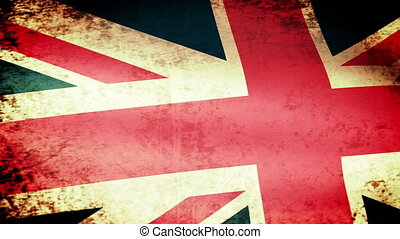 United Kingdom Flag Waving, grunge look