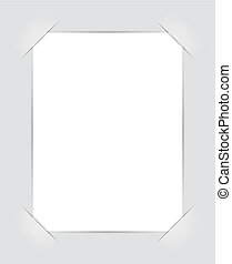 Photo frame corners. Illustration for design on gray...