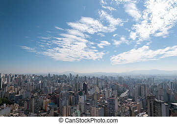 Aerial view of sao paulo.
