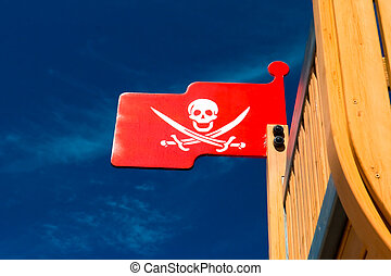 Pirate flag on plaything