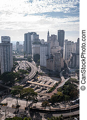 Flag Square in downtown sao paulo, southeastern Brazil.