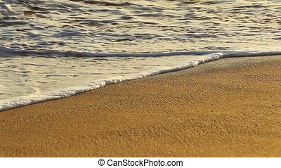 Calm waves hitting the shore - Calm waves hitting the...