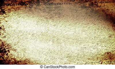 US Declaration of Independence Flag