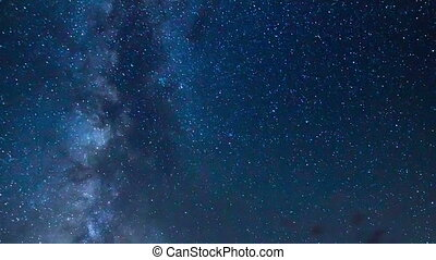 Milky Way galaxy in the night sky - Amazing time-lapse view...