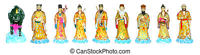 The Eight Immortals Isolated - The Eight Immortals in...