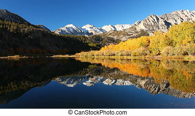 Mountain Lake - Beautiful Mountain Lake, Vibrant Fall Colors