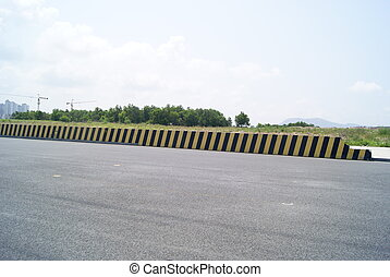Highway safety wall