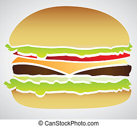 silhouette of a hamburger