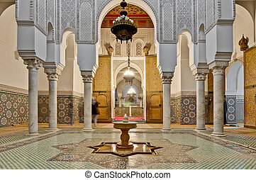 Moulay Ismail Mausoleum at Meknes, Morocco - Moulay Ismail...