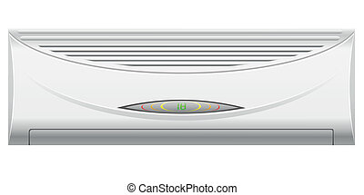 air conditioning vector illustration isolated on white...