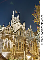Southwark Cathedral at London, England - Southwark Cathedral...