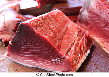 Fresh Tuna - fresh tuna on the fish market