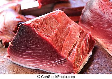 Fresh Tuna - fresh tuna on the fish market
