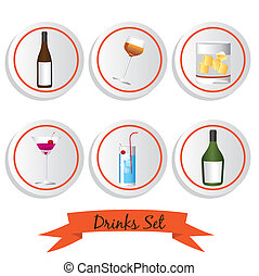 icon set of liquor