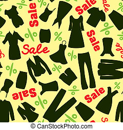 Pattern of clearance sale in the clothing store - Yellow...