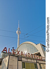 Alexanderplatz, at central Mitte district of Berlin -...