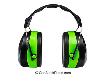 Green protective earmuffs - Industrial green protective...