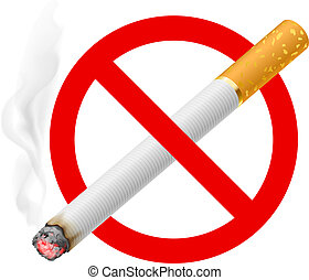 The sign no smoking Illustration on white background