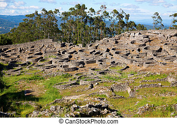 Celtic fort and cabins in Saint Tecla