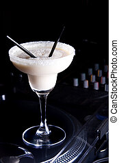 Creamy cocktail  White Russian and decoration