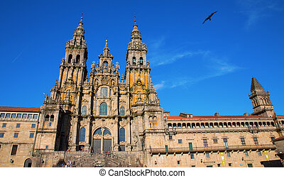 Cathedral of Santiago facade - Facade of Cathedral of...
