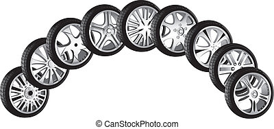 automotive wheel with alloy wheels and low profile tires