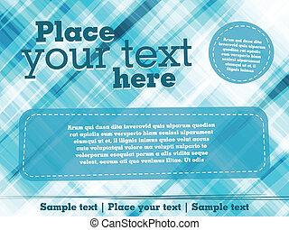 Abstract flyer design - Background template