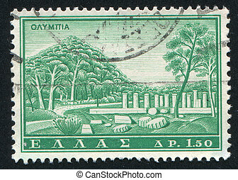 Olympia - GREECE - CIRCA 1961 stamp printed by Greece, shows...