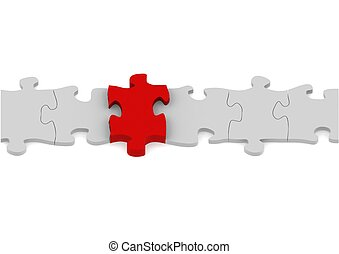 Puzzle Connection - Rendered artwork with white background
