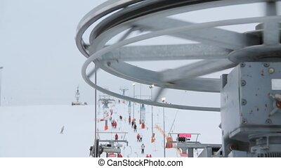 rotating machine ski lift