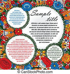 Hungarian folk ornament circles - Decorative floral designs...