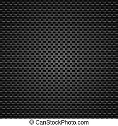 Perforated leather - Carbon background of squares...