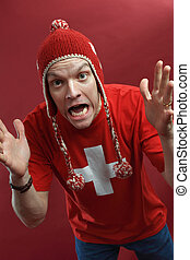 Crazy Swiss sports fan