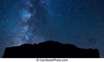 Star Time Lapse - Time Lapse of Milky Way Galaxy Moving...