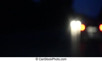 light bokeh car headlights