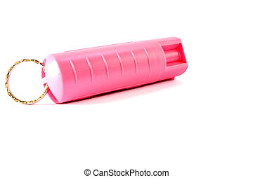 Self Defense Pepper Spray - Isolated breast cancer awareness...