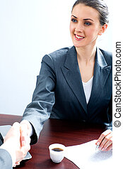 Business agreement - Portrait of professional making an...