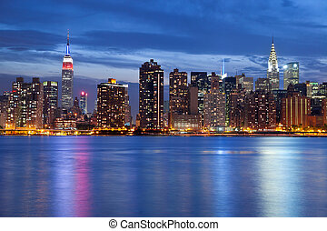 Manhattan Skyline. - Image of the Manhattan skyline viewed...