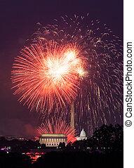 在上方, 煙火, 華盛頓,  DC, 第4, 七月