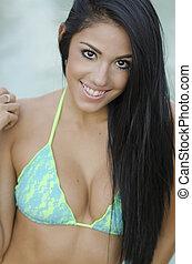Sexy beautiful bikini girl
