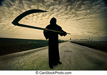 Grim Reaper on the road