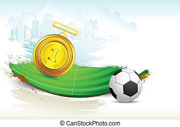 Gold Medal on Soccer Pitch