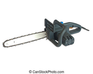 Chainsaw isolated on a white background