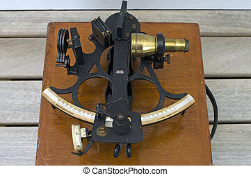 Sextant - Sea Navigation Instrument - Sextant an old...