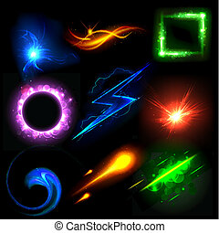 Glowing Light Effect - illustration of sparkling glowing...