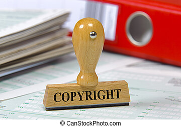copyright - rubber stamp marked with copyright