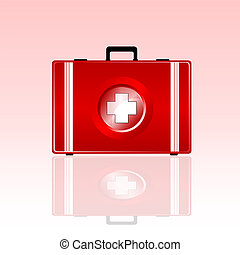 first aid bag vector illustration