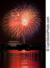 Fireworks over the Potomac - Washington DC fireworks over...